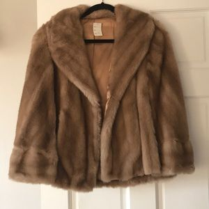 Jackets & Blazers - Vintage fur shawl wrap